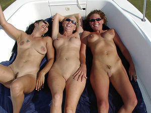 A few mature GFs went yachting together and had lots of naked fun on the deck.