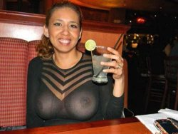Latina MILF went in public with a see-through dress
