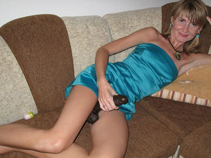 Fit amateur wife who will definitely get busy with the big black dildo later that night.