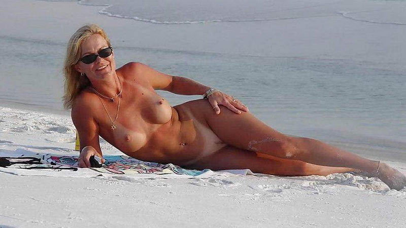 Naked Mature On Beach