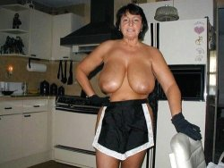 Mature housewife with big boobs