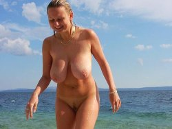Nudist amateur wife with big tits