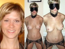 Blonde MILF likes to be a submissive