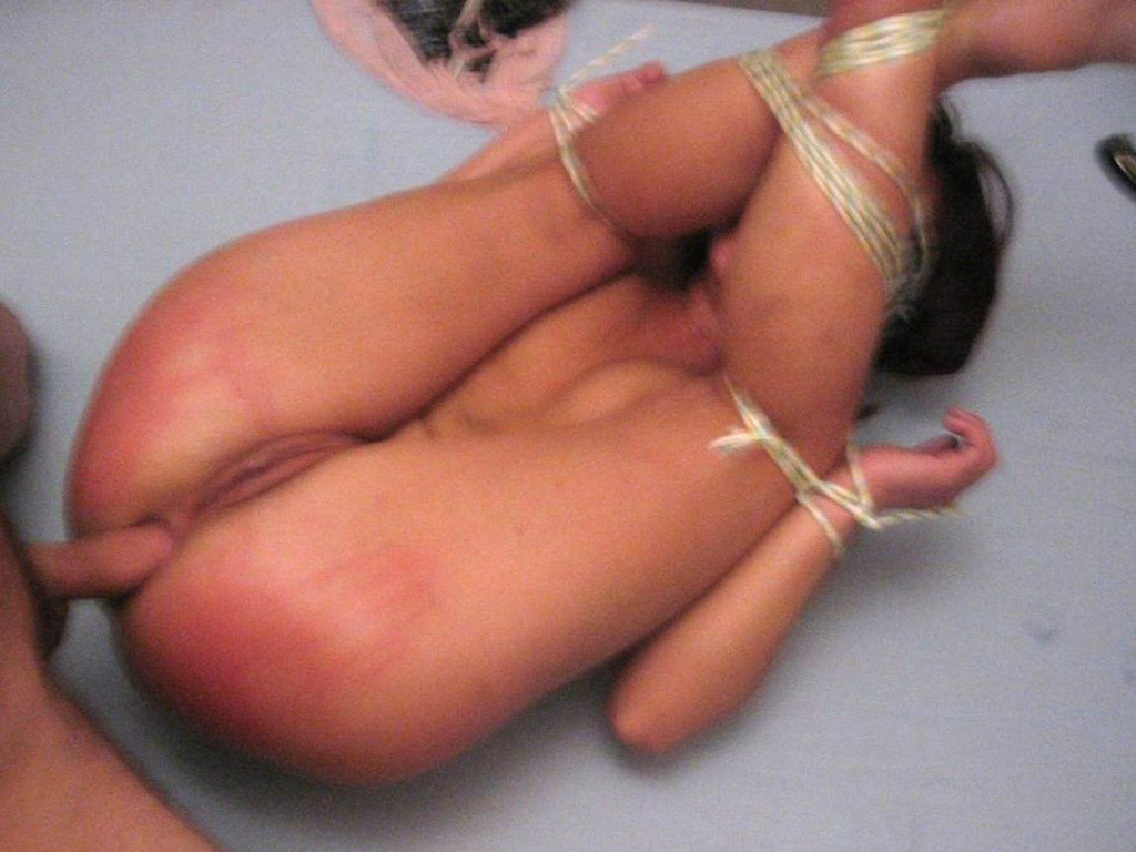 Submissive wife in tight bondage fucked hard in the ass