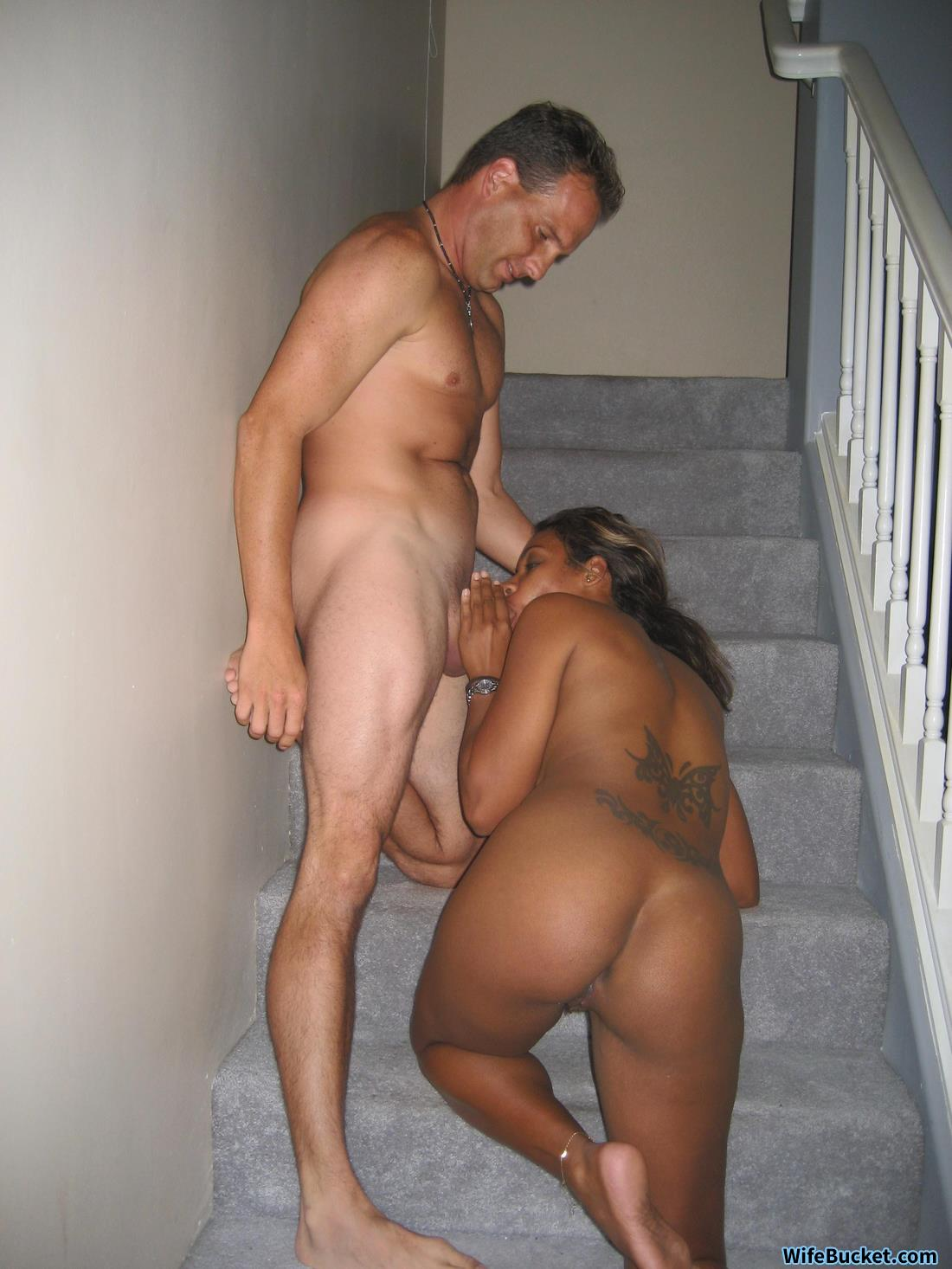 WifeBucket Pics | Cuckold wife blowjob