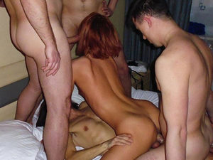 Masha and Victor live in Ukraine, drink vodka, eat borscht, and host gangbangs. It all started very casually - with a threesome 10 years ago. Hubby found out the cuckolder in him and wifey was cumming so hard that their sex life totally changed from this moment on. Little by little, orgy by orgy, Masha found herself at the business end of 10 cocks and Victor was happy to watch so many guys do anything they want with his cheating wife. Scroll down for the full gallery of this juicy wife over 40 starring in a big homemade gangbang 
