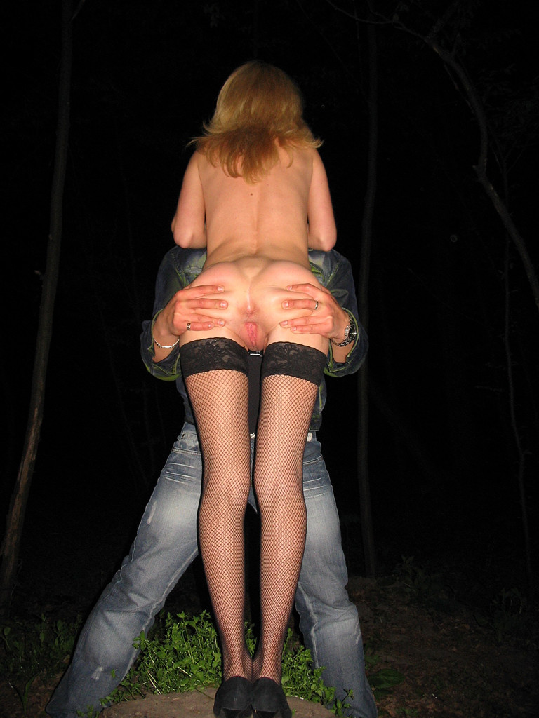 Cuck wife outdoor gangbang