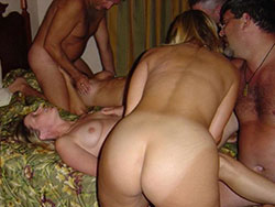 Real MILFs fucked at swinger sex parties