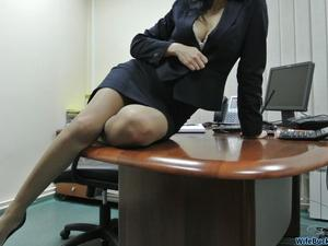 Most of you have this wild fantasy about the hot MILF in the office and what wonderful things you can do to her pussy  That's why I'm pretty sure that you are going to enjoy today's WifeBucket update. The submission came anonymously and will give great visual clues on what happens when your secretary is a true slut and you can't keep it in your pants  Yes, she gets naked in the office; yes, she gets fucked and creampied on the desk; yes, she's even open for a threesome quickie after work. Check the free samples and sign up to download the full gallery inside!