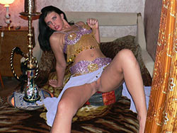 Arab wife shows her smooth shaved pussy
