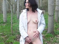 Amateur slut naked outdoor