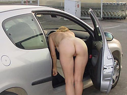 Real amateur wife nude in public