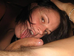 Real wife gets big facial cumshots