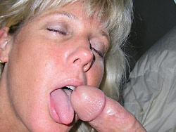 Hot blowjobs from a hot wife over 40