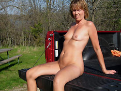 Pics of exhibitionist wife naked in public
