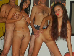 Orgy with real amateur hookers