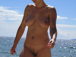 Public nudity pics from a real amateur wife