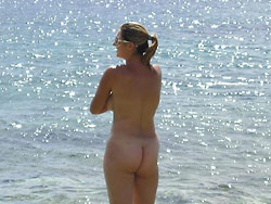 Pics of a real MILF naked outdoor
