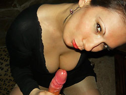 Homemade pics of hot wife giving blowjobs