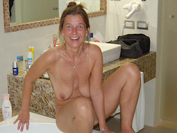 Amateur hot redhead helped to pee by older lover