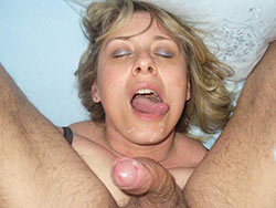 Huge facial cumshots for a BBW wife