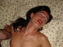 Cheating mature wife giving blowjobs