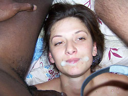 Cheating wife loves gangbangs at home