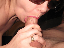 Hot blowjob from a real amateur wife