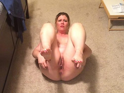 Hot MILF naked at home