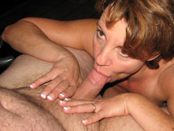MILF blowjob photo