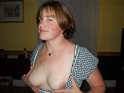 Big-tit mature wife naked