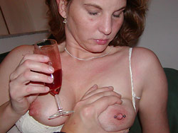 Hot wife with big natural tits