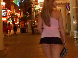 Amateur wife nude in public