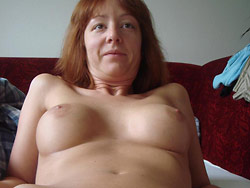 Naked pictures of a real redhead MILF